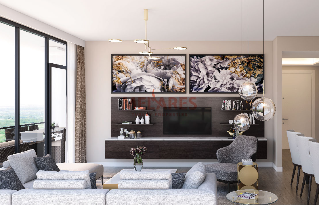Stylish Decoration Meets with Comfort in this 4 Bedrooms Apartment