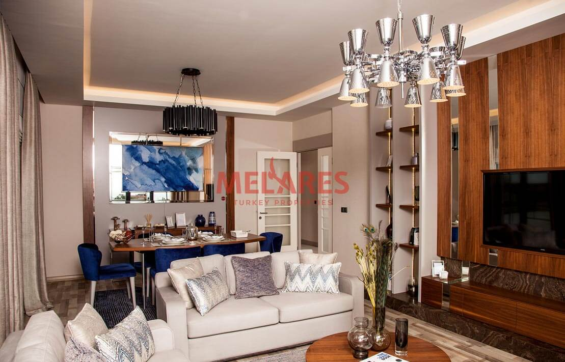 Wonderful Apartment For Sale 650 Meters Away from the Sea in Istanbul