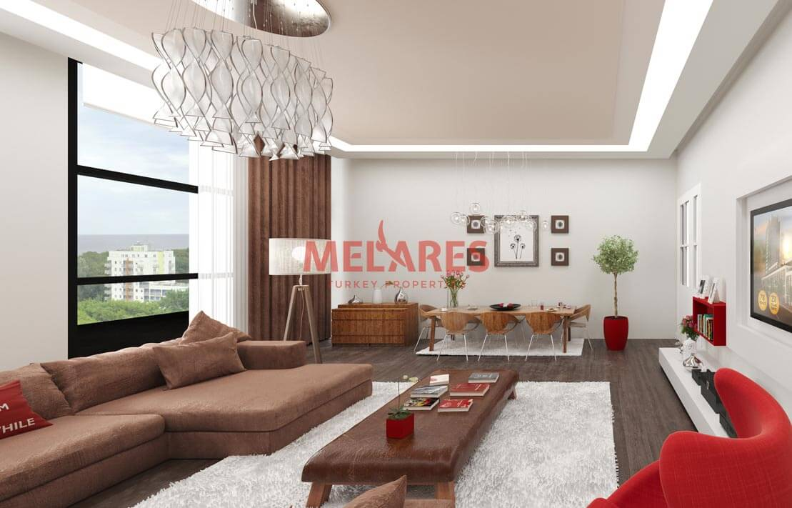 Southwest Facade Apartment for Sale in Esenyurt