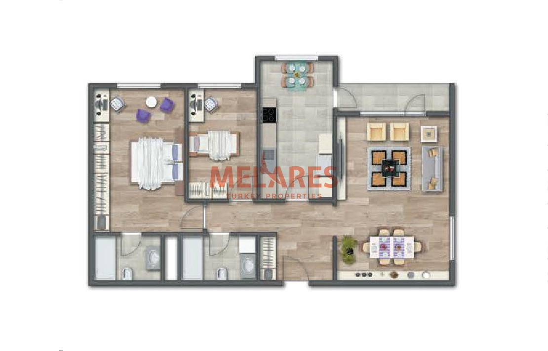 2 Bedrooms Apartment Making All Moments of You and Your Loved Ones Special