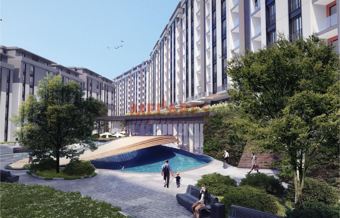 4 Bedrooms Duplex Apartment of Contemporary Design in Peaceful Eyupsultan