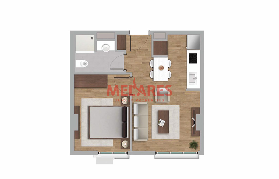 Innovatively Designed 1 Bedroom Apartment