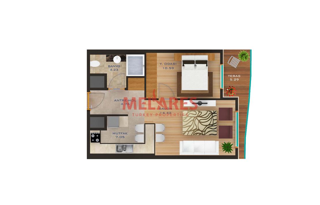 Luxurious 1 Bedroom Apartment