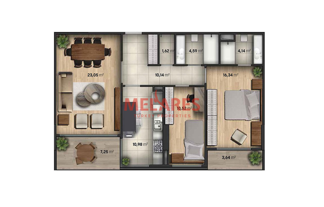 Sign to a New Experience in 2 Bedrooms Apartment