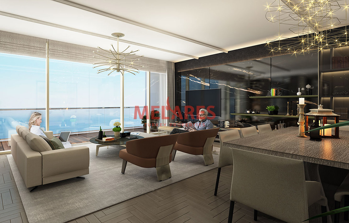 Seafront Apartment for Sale with Stunning Interior in Istanbul