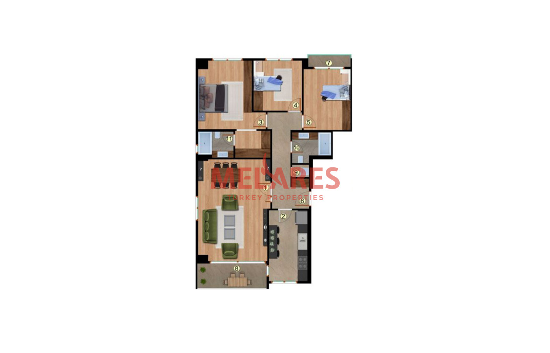 Increase your Living Standards in 3 Bedrooms Apartment