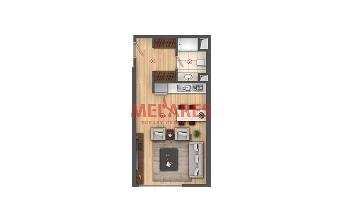 Individual Lifestyle in Studio Apartment