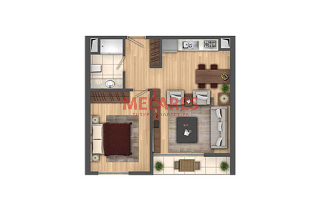 Luxurious 1 Bedroom Apartment in Beylikduzu