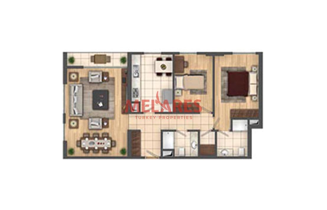 2 Bedrooms  Apartment in Beylikduzu