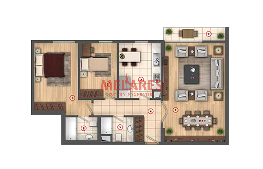 2 Bedroom Apartment Transforming Luxury into a Standard