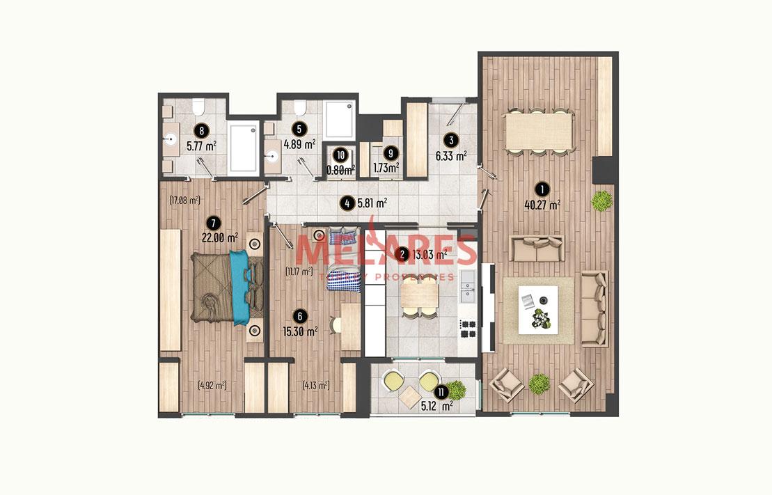 Luxury Urban Life in 2 Bedroom Apartment in Beylikduzu