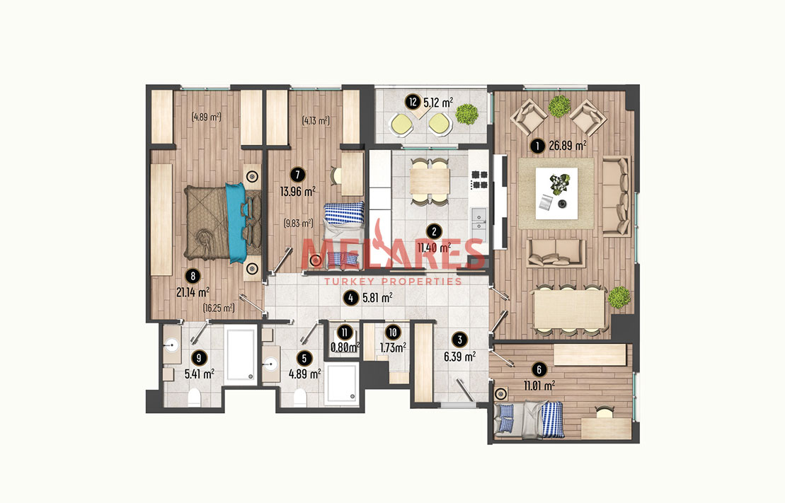 3 Bedroom Apartment in European side of Istanbul