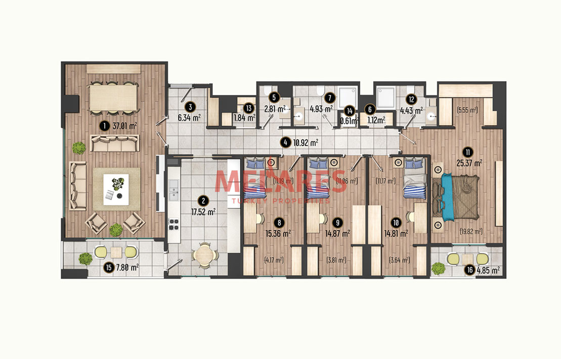 Fabulous 4 Bedroom Apartment in Beylikduzu