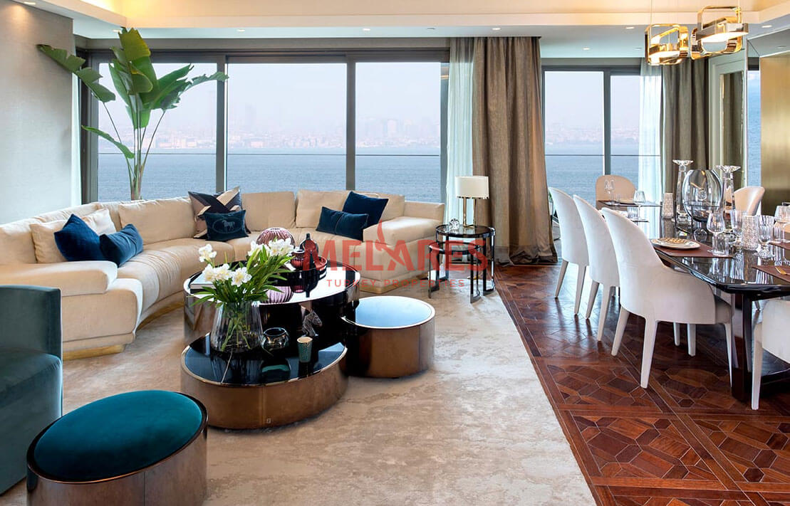 Apartments for sale in Istanbul with Sea view in the European Side