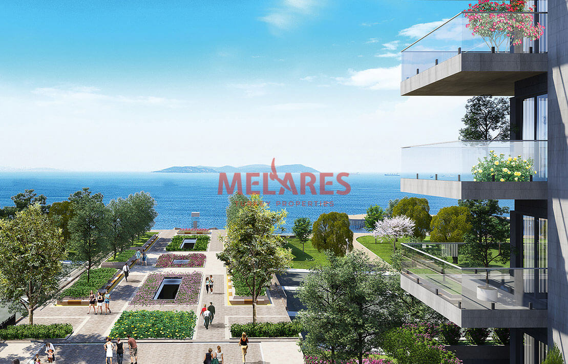 Apartment for Sale with  Outstanding View of Sea in Zeytinburnu Istanbul