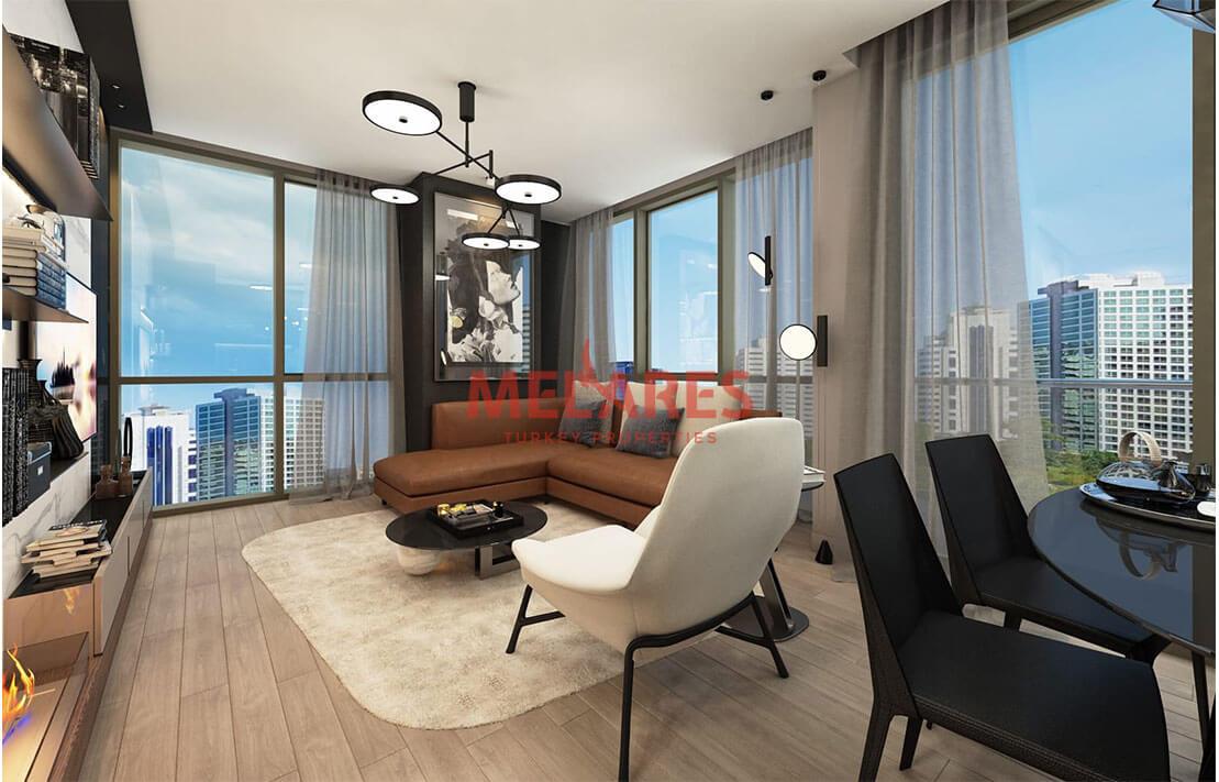 Modern apartment in European side of Istanbul Sariyer