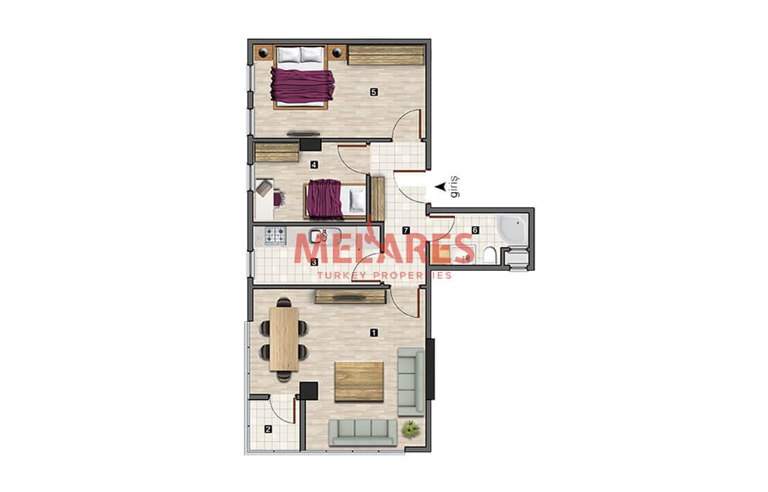 Big 2 Bedrooms To Get Resident Permit