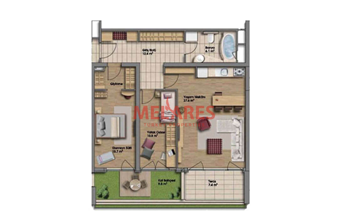 Buy a House in Turkey With Soft Edges And Curved Lines Interior Spaces