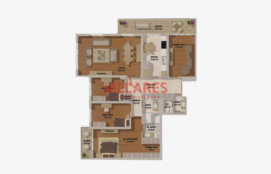 Luxury Apartment For Sale with Useful Floor Plan in Istanbul