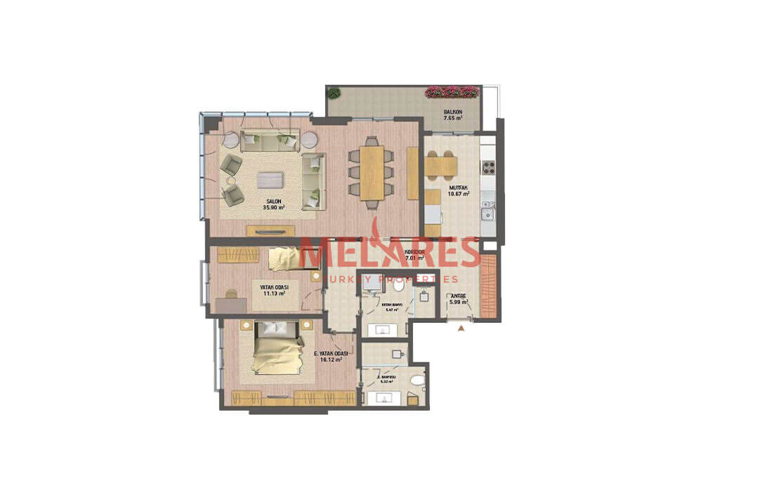 Apartment for Sale with Available Tenant Near to Belgrad Forest in Istanbul