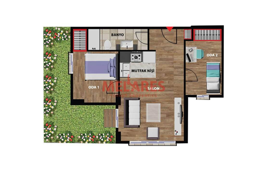 Luxurious 2 Bedrooms Apartment for sale in Istanbul