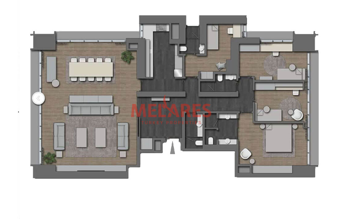 Modern and luxurious 4 Bedroom Apartment for a Big Family in Nisantasi