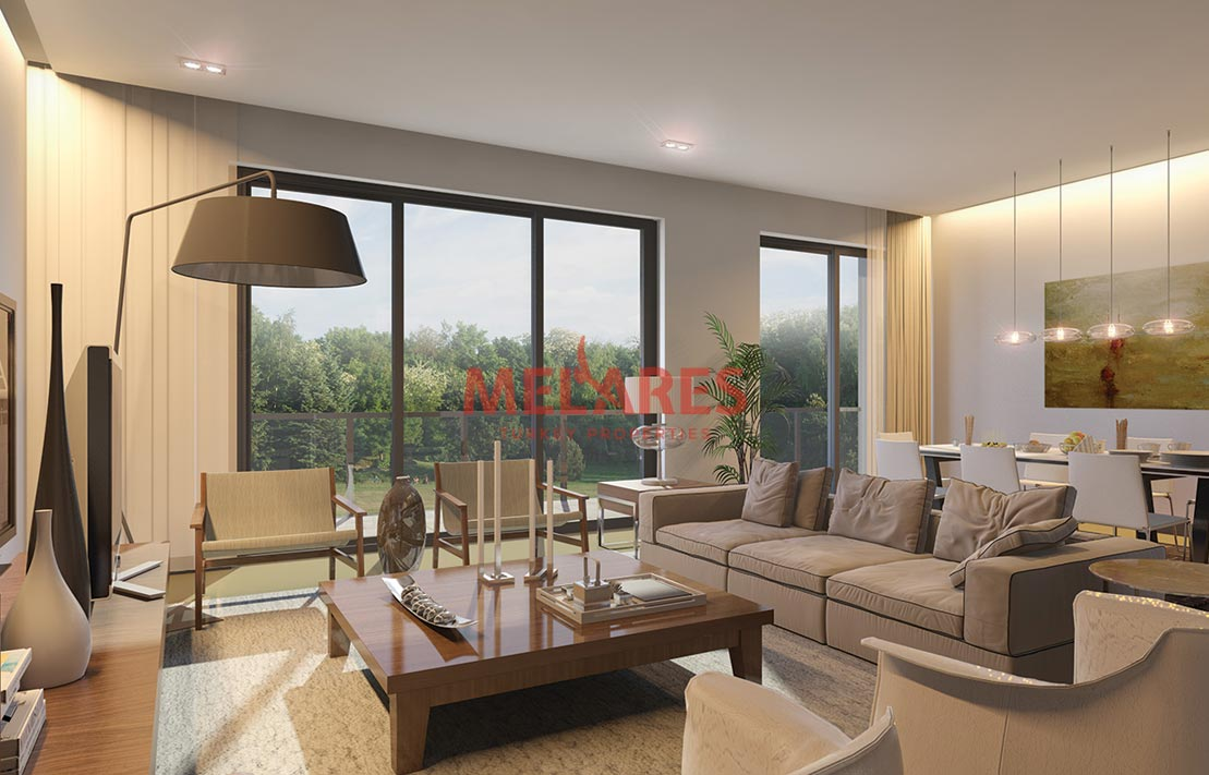 Double-Sided Duplex Apartment for sale with Belgrad Forest View in Istanbul