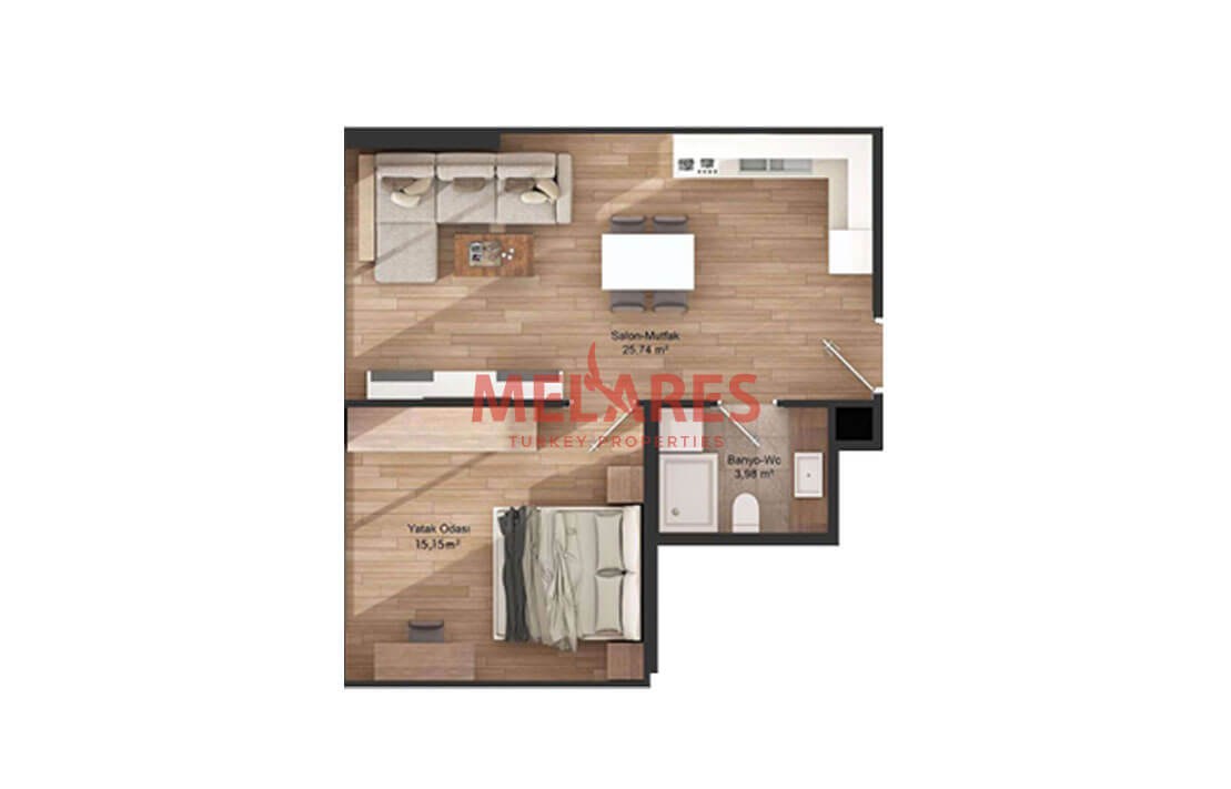 start your dream life with large space apartment