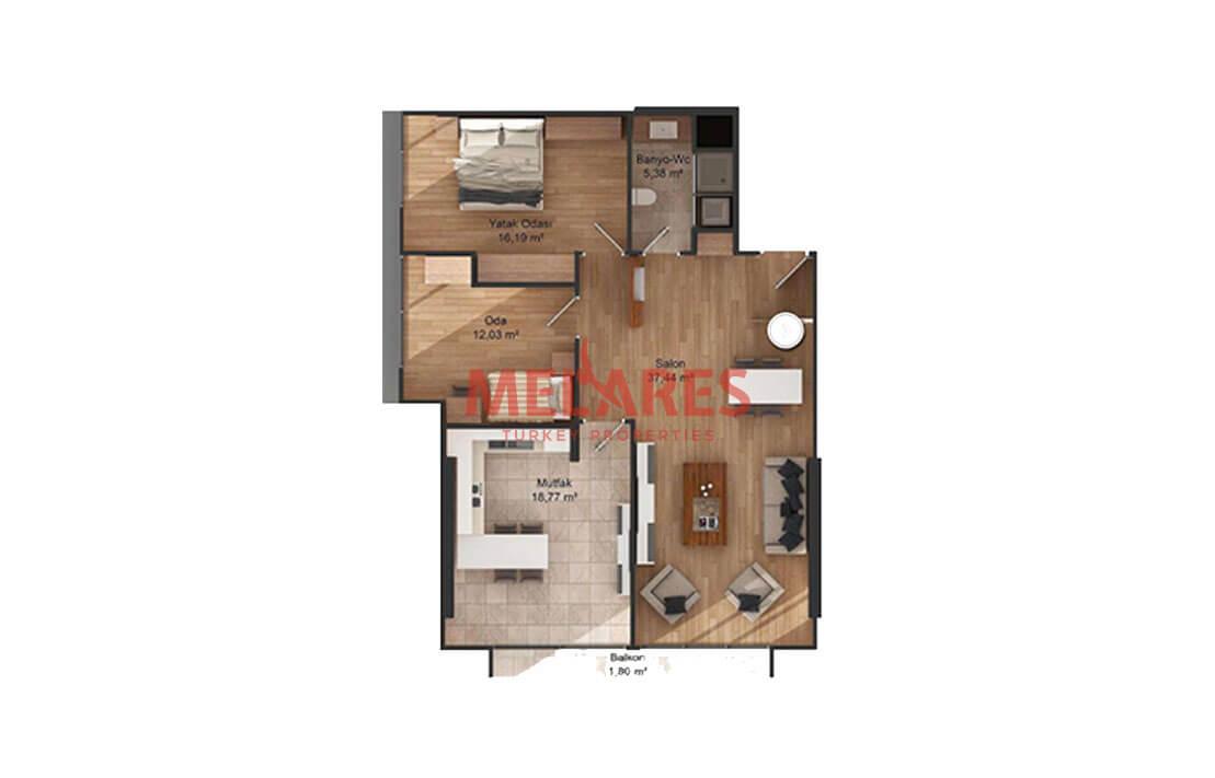 Two badroom apartment close to Ataturk airport
