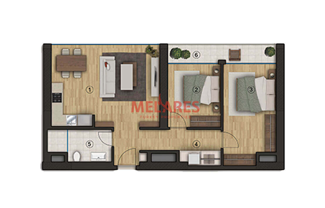 Two Bedroom With big rooms