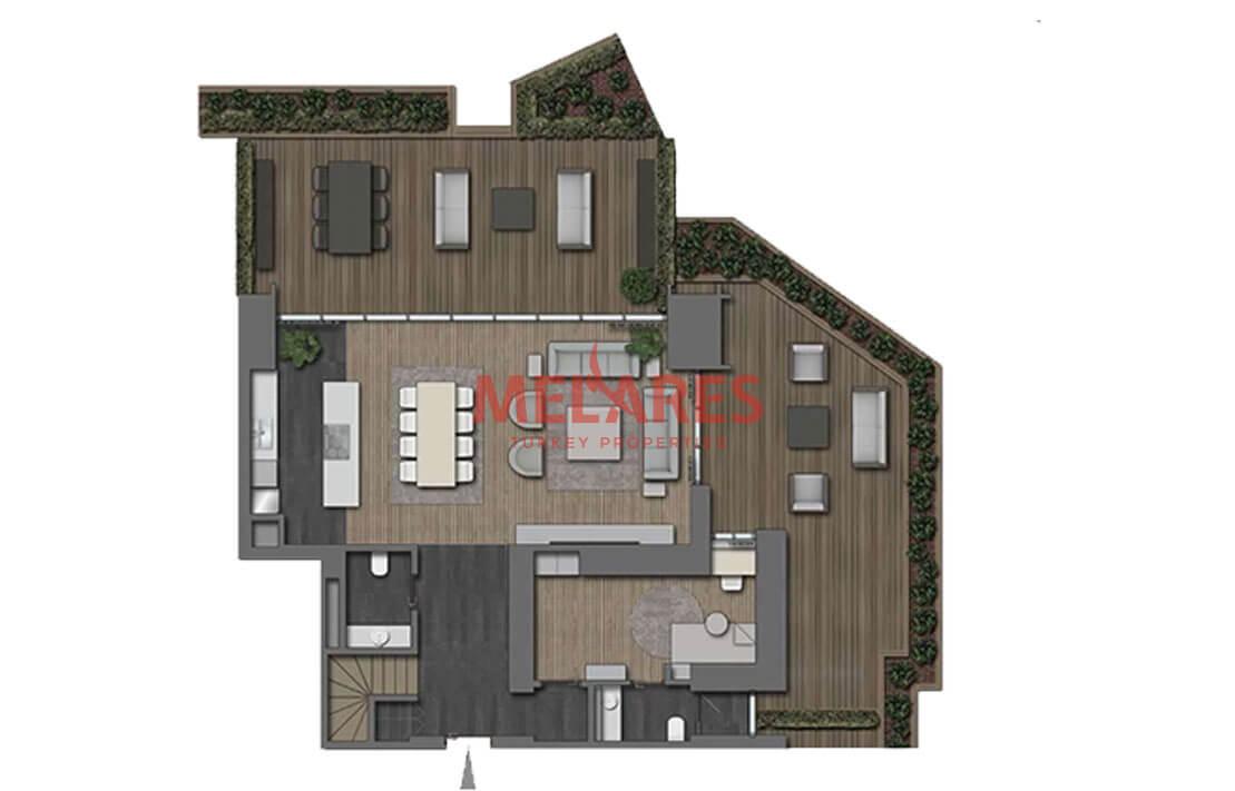 Modern Duplex with Private Garden in Nisantasi