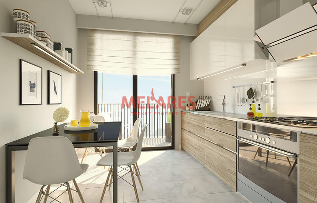 Two-sided Corner Apartment 1 Minute from TEM Highway in Istanbul