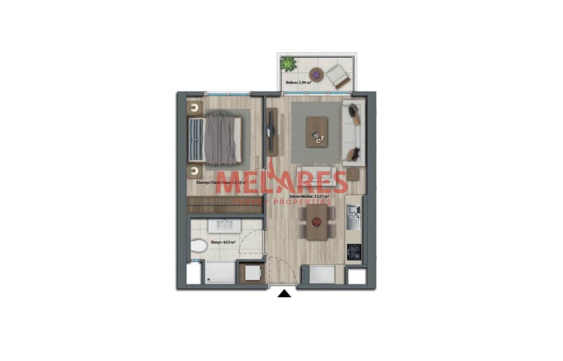 Luxurious 1 Bedroom Apartment in Basaksehir Istanbul