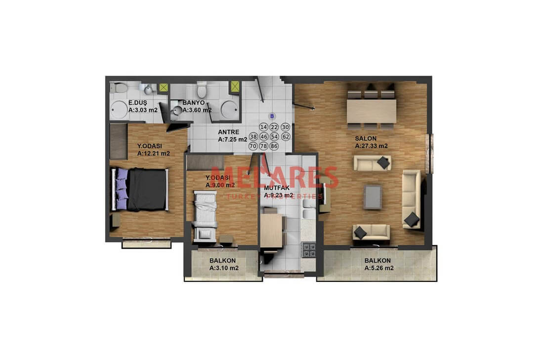 Luxurious Apartment for Sale with Reasonable Price in Esenyurt