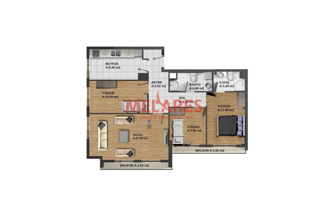 Family-oriented Apartment for Sale in Esenyurt