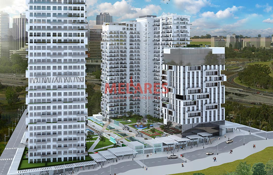 Buy a large two bedroom apartment in the istanbul center