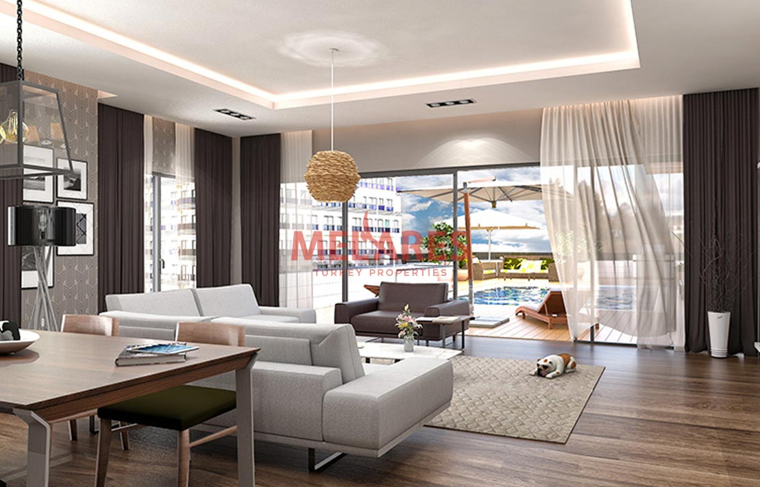 Wonderful three badrooms apartment for sale in turkey