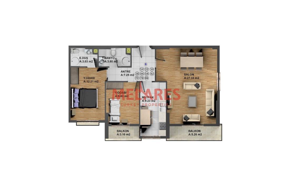 Apartment for Sale in Istanbul's Center of Attraction in Sisli Bomonti