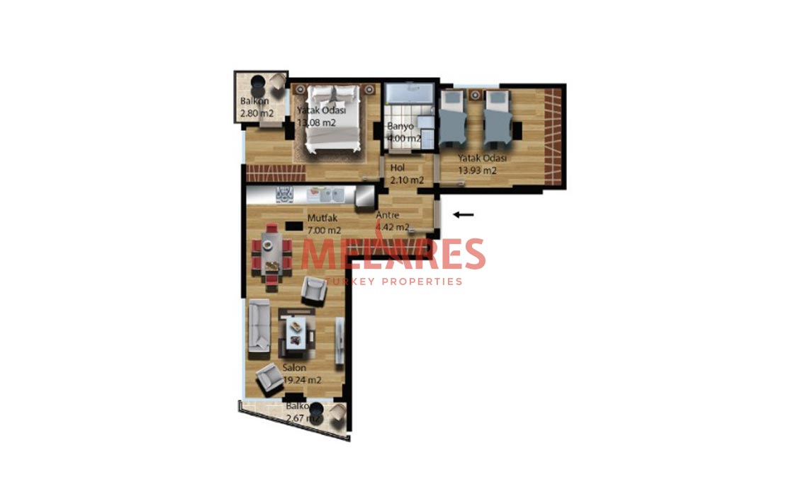 Obtain Turkish Citizenship with Buying Double-sided Corner Apartment in Istanbul