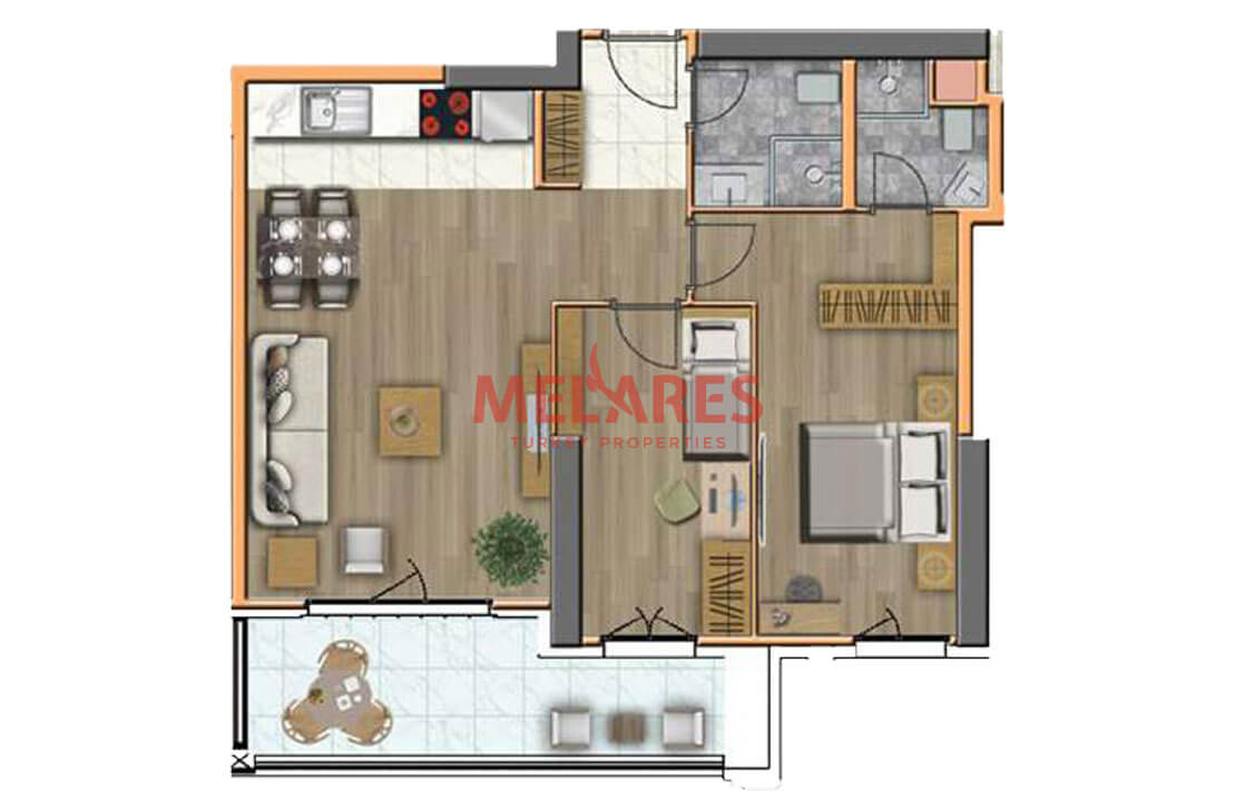 Apartment for Sale Suitable for the Residence permit in Esenyurt Istanbul