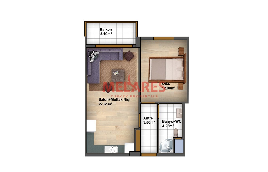 An Ideal One Bedroom Apartment with Reasoable Price in BASIN EXPRESS