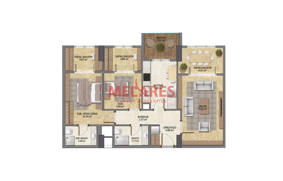 Apartment for Sale Within Walking Distance to the Metrobus, in Istanbul