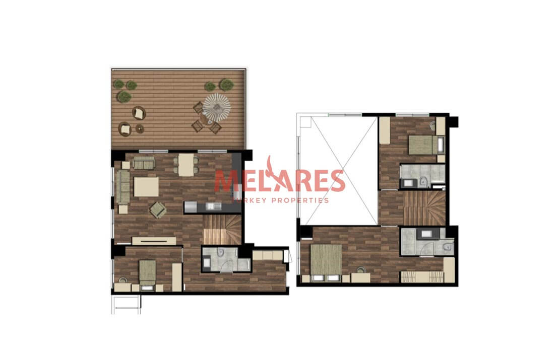 Duplex Apartments For Sale in Turkey Appropriate For Turkish Citizenship