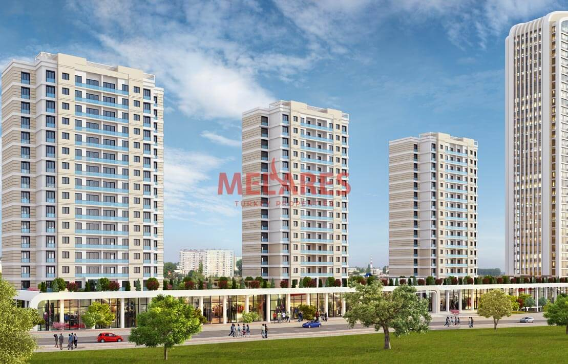 A Perfect Apartment for Sale in Esenyurt with Southwest Double Facade View