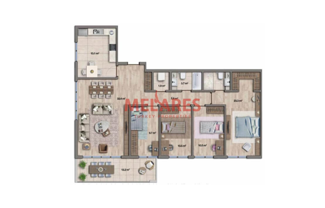Apartment for Sale On the Anatolian Side of Istanbul