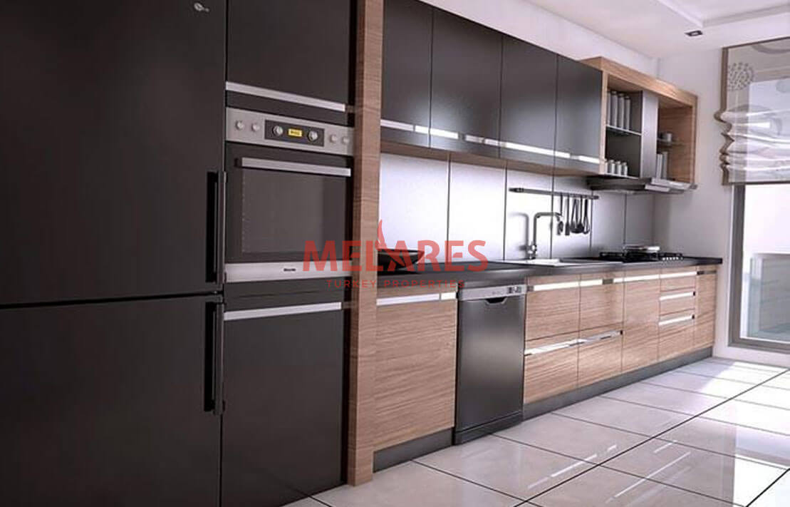 Apartment with 3 Facades for Sale in the European Side Istanbul