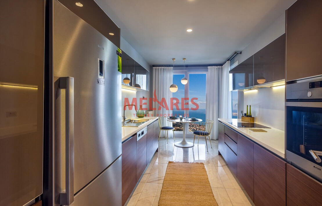 Luxury and Modern Design Apartment for Sale in Best Part of Istanbul