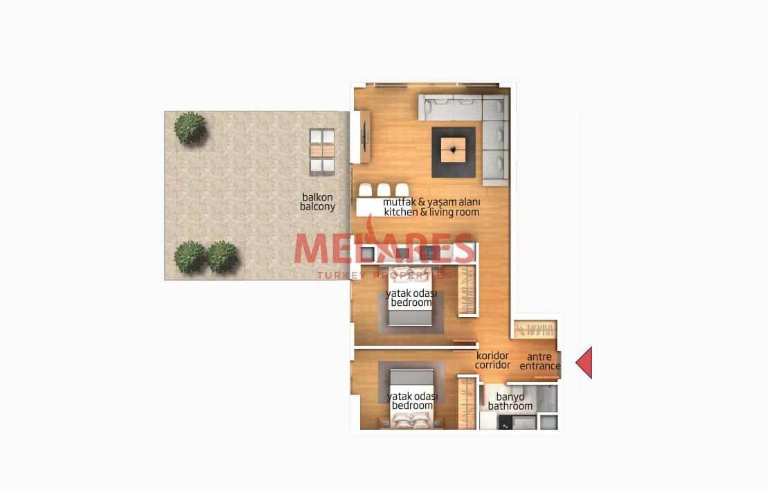 Luxury Apartment in Istanbul Bagcilar District