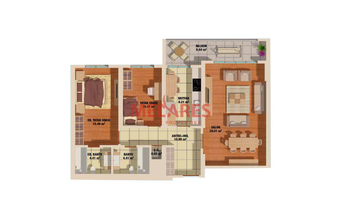 Amazing Two Bedrooms Modern Life Apt for Sale in Istanbul