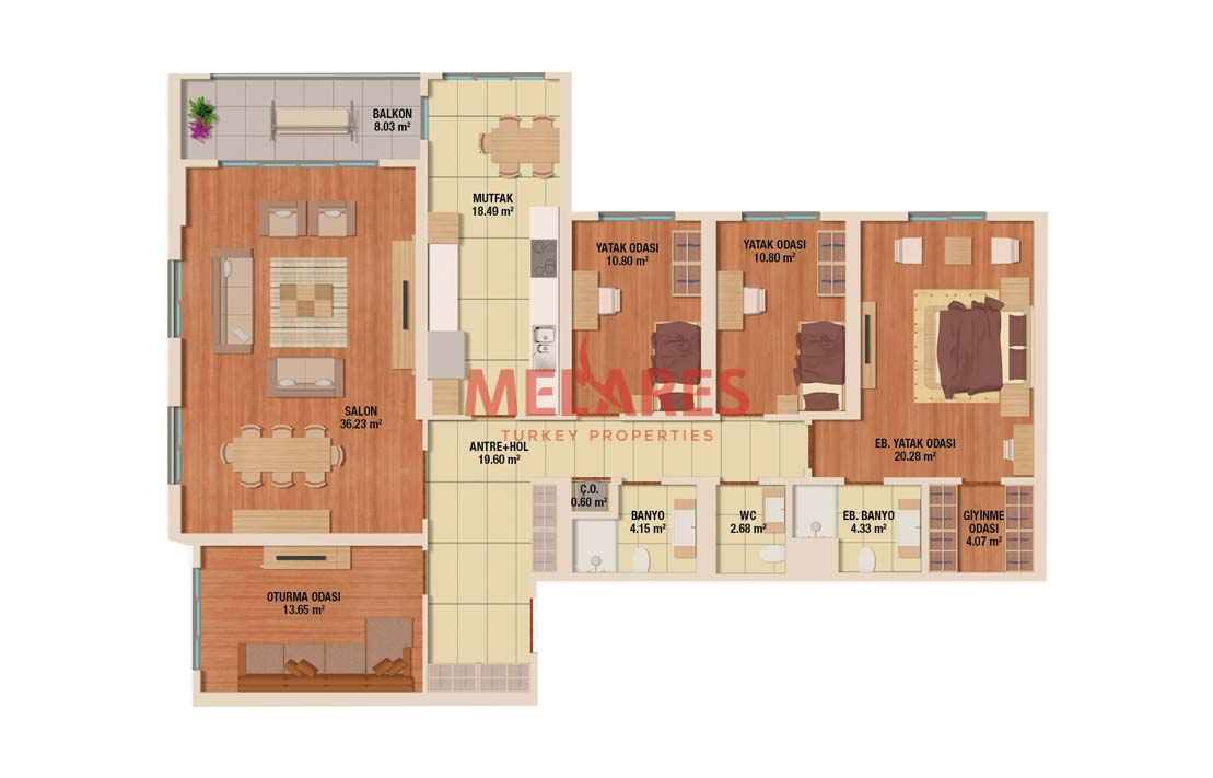Astonishing Four Bedrooms Family Concept House for Sale in Istanbul